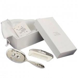 Twinkle Twinkle - Set perie si pieptan argintate