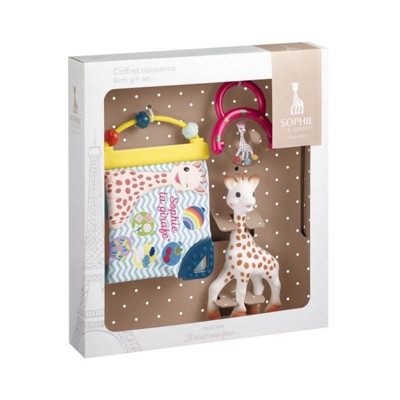 Vulli Set cadou girafa Sophie cu zornaitoare si carticica cu activitati krbaby.ro