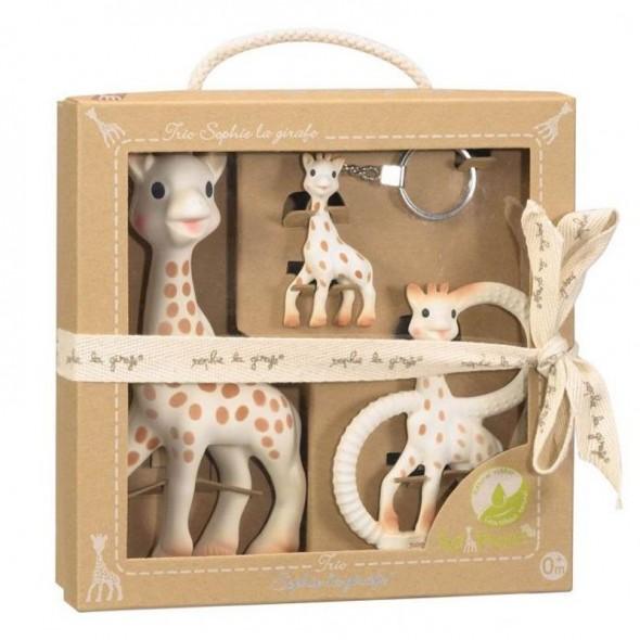 Set cadou So Pure pentru mama si bebe Girafa Sophie Vulli