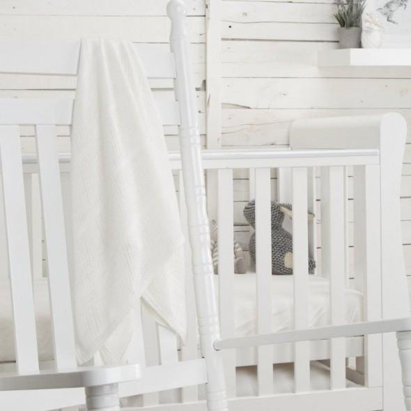 Paturica celulara din bambus Comfi Love Bright White