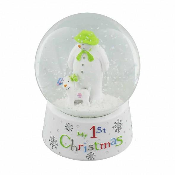 Glob My First Christmas cu om de zapada si catel