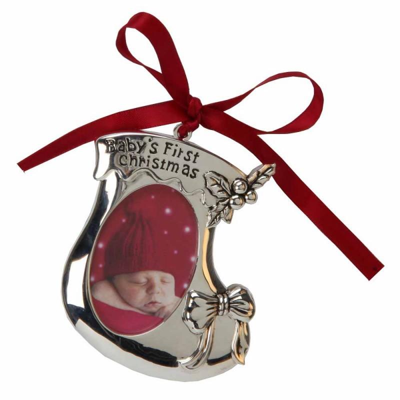 Juliana - Ornament ghetuta argintata cu spatiu pentru fotografie krbaby.ro