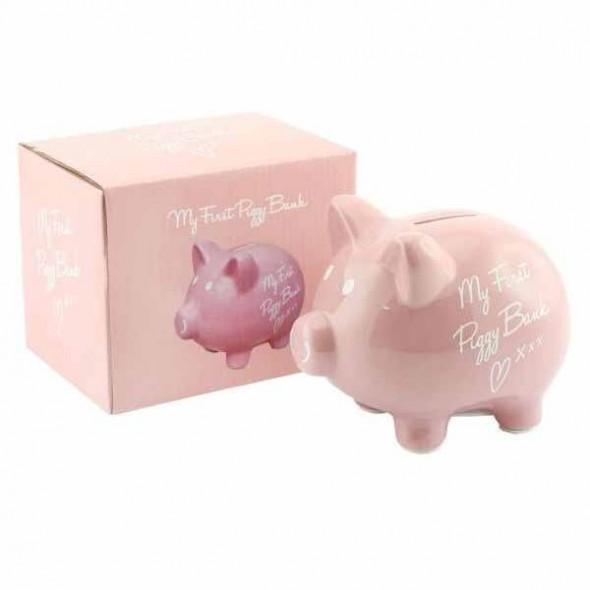 Prima mea pusculita din ceramica Piggy Bank Pink