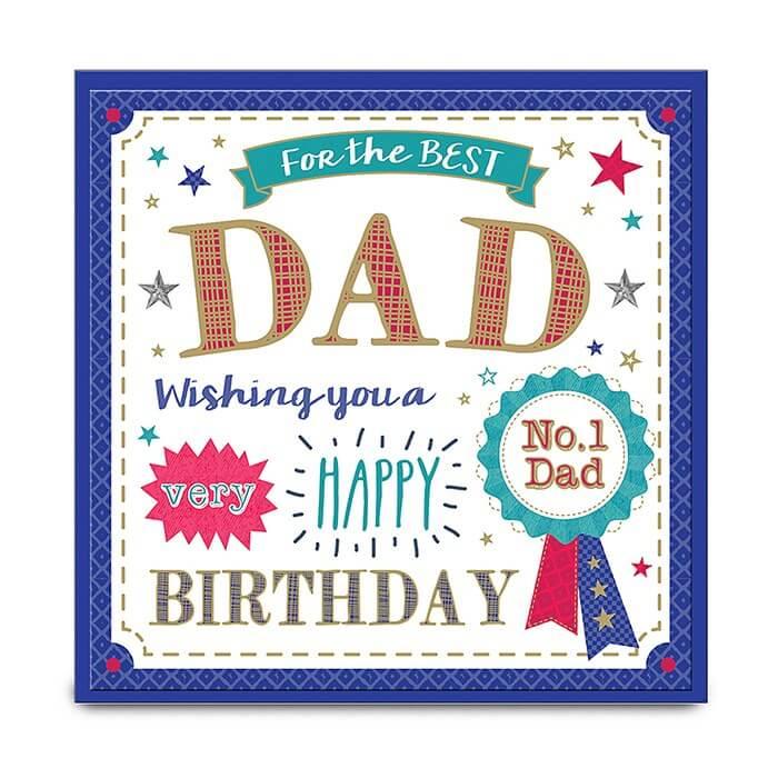 Felicitare Best Dad 3D