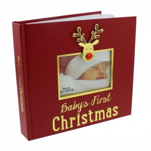 Album foto cu ren Baby's First Christmas