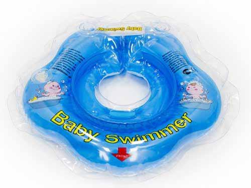 BabySwimmer - Colac de gat pentru bebelusi - jumatate transparent (0-24 luni)