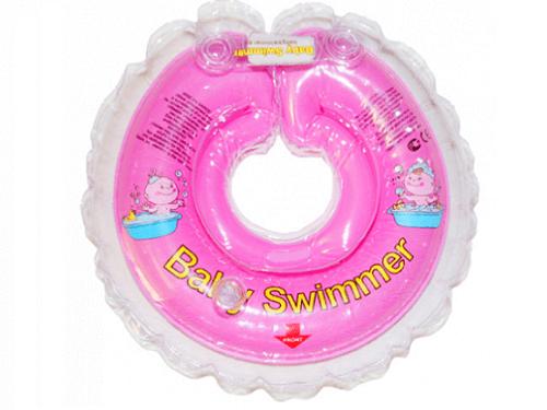 BabySwimmer - Colac de gat pentru bebelusi - jumatate transparent (6-36 luni)