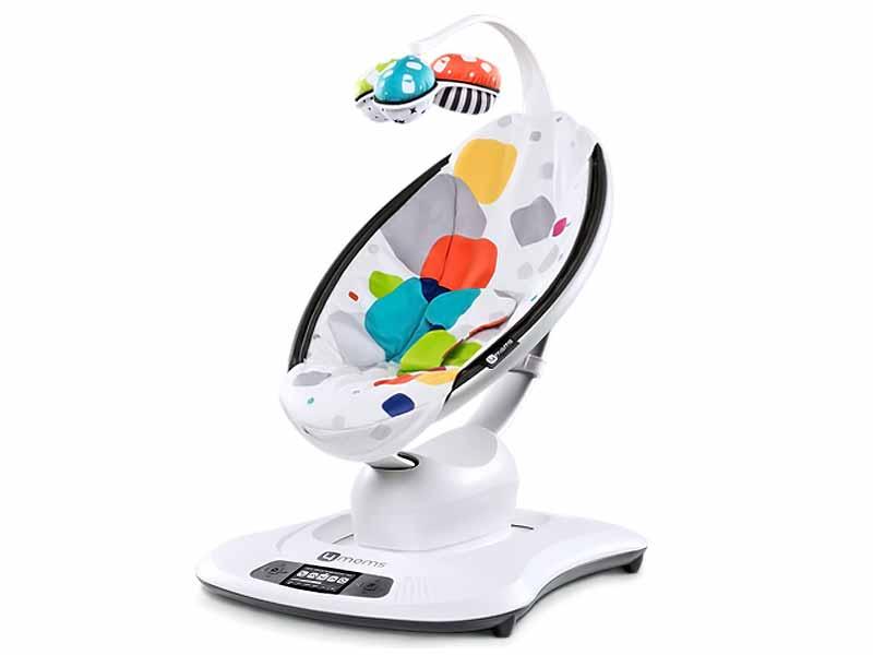 4MOMS - Fotoliu balansoar bebelusi MamaRoo Plush Multicolor