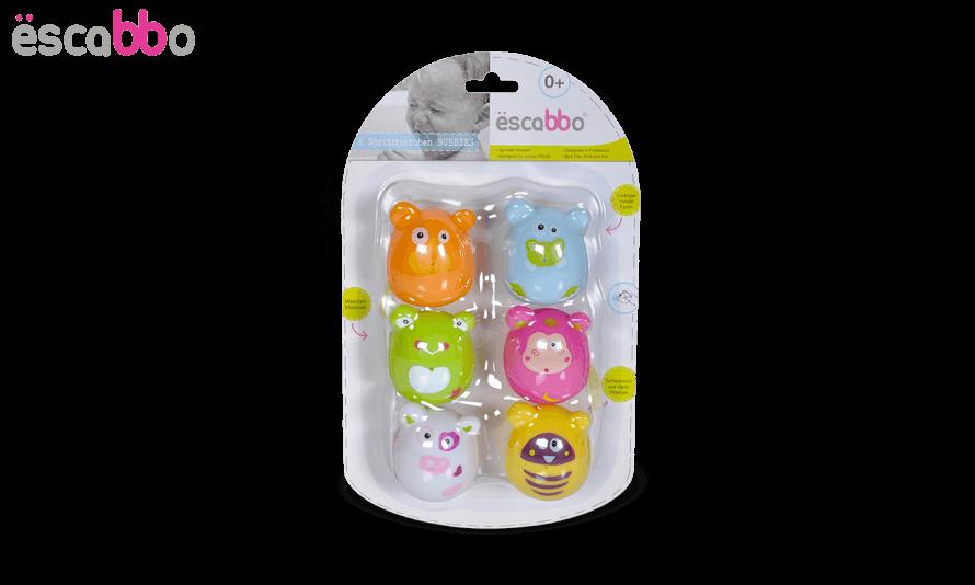 Escabbo - Set 6 jucarii de baie Animale Haioase