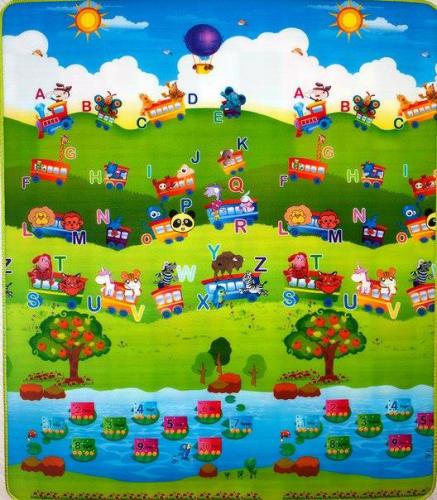 Covoras de joaca Alfabet/Tigru 180x200x1cm