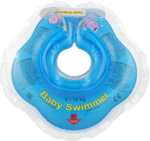 Babyswimmer - Colac albastru jumatate transparent 0-24 luni