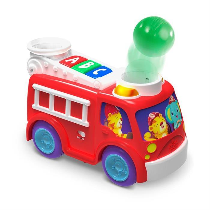 Bright Starts – Masina de pompieri cu lumini si sunete Hab Roll & Pop