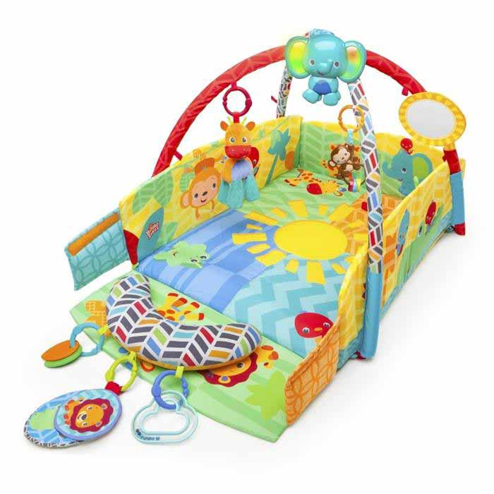 Bright Starts - Salteluta de joaca 5 in 1 Sunny Safari Baby's Play Place