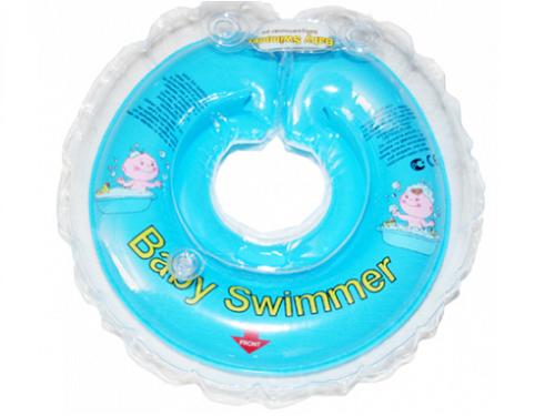 Babyswimmer - Colac albastru jumatate transparent 6-36 luni