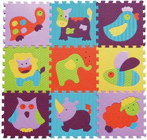 Babygreat - Covoras Puzzle Animalute Vesele