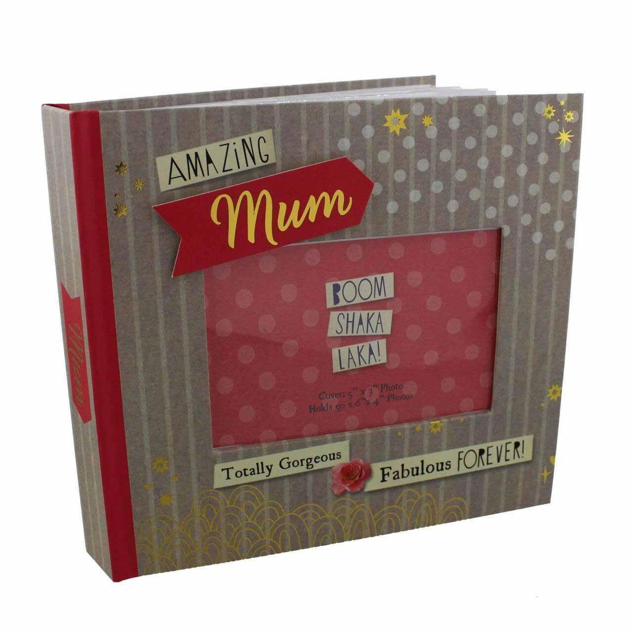 Album foto cu coperta personalizabila Amazing Mum