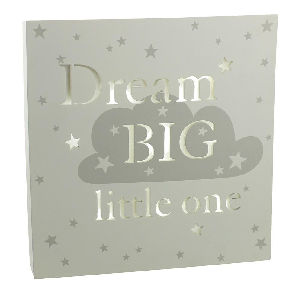 "Bambino by Juliana - Tablou cu lumina ""dream big"""