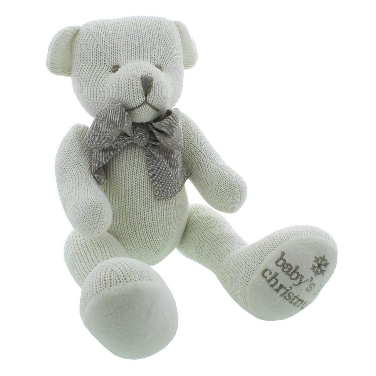 Bambino by Juliana - Ursulet tricotat Baby's 1st Christmas