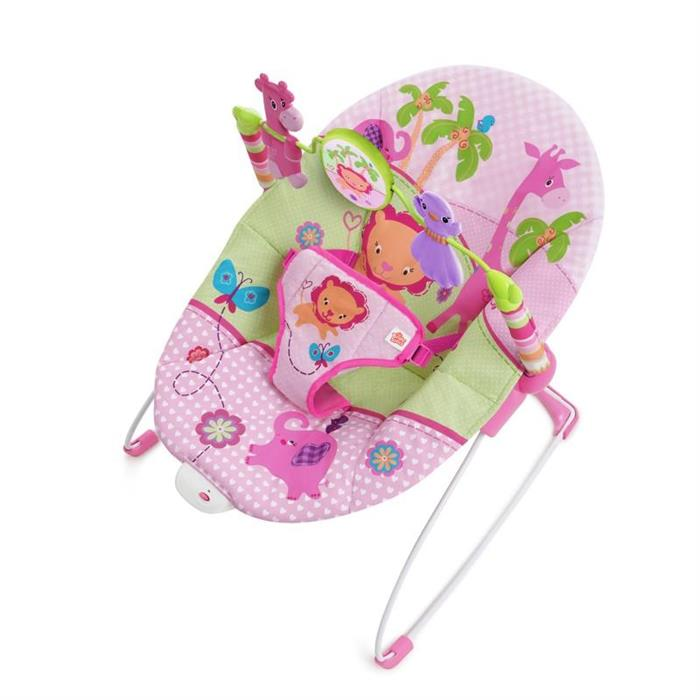 Bright Starts - Balansoar cu vibratii Sweet Safari Pretty In Pink