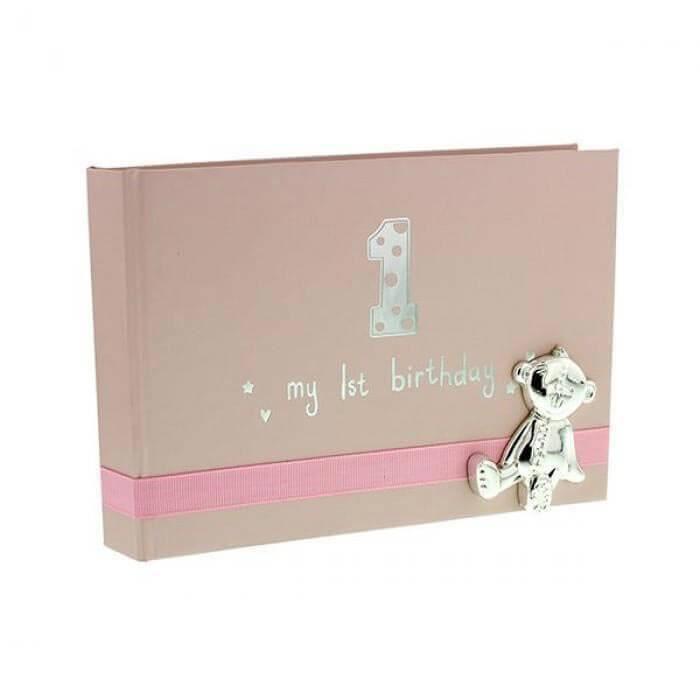 Button Corner - Album foto My 1st Birthday - pink