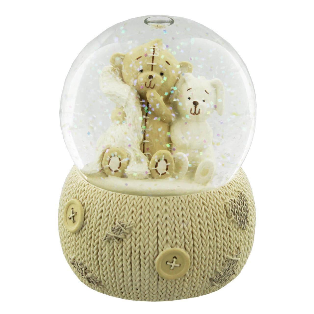 Button Corner - Glob de iarna cu ursulet