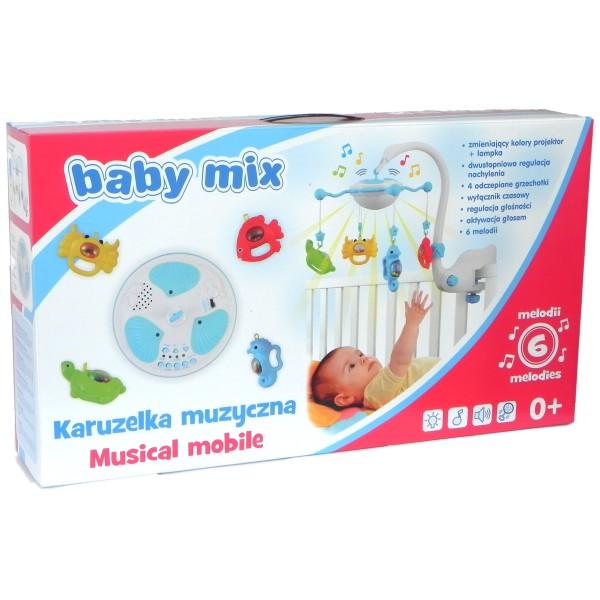 Baby Mix - Carusel muzical cu proiectie Aqua Magic - albastru