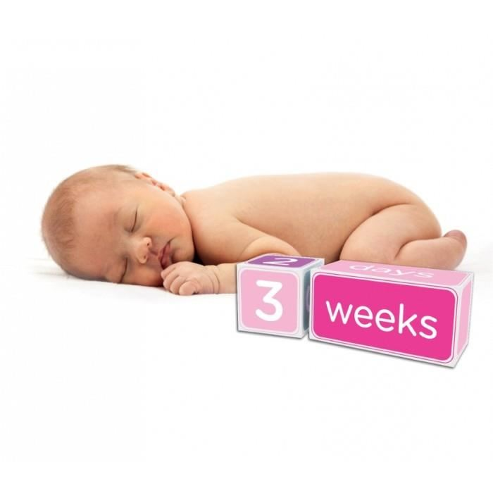 Pearhead - Cuburi roz pentru semnalarea varstei bebelusului