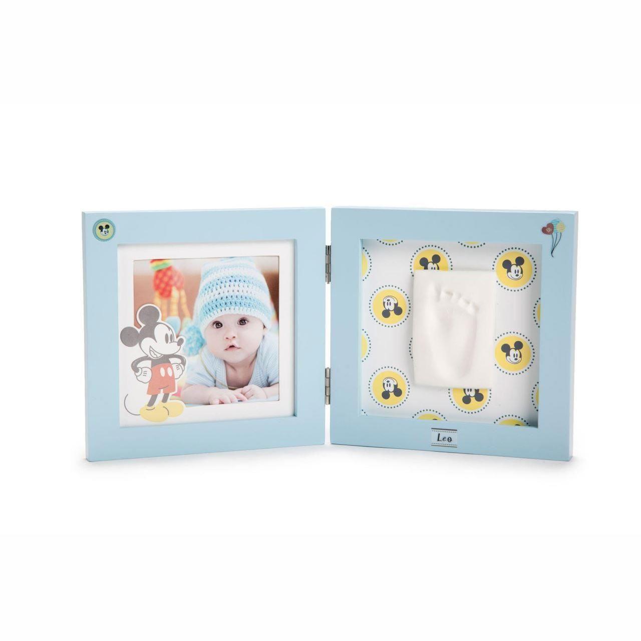 Disney Baby Prints - Kit rama foto dubla amprenta mulaj manuta sau piciorus Mickey Mouse