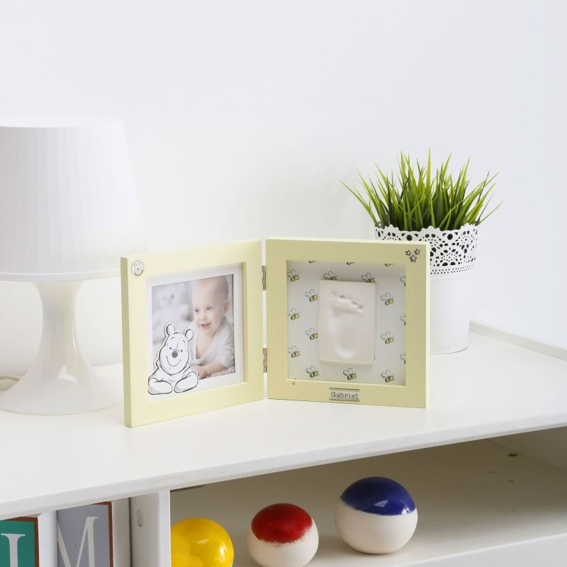 Disney Baby Prints - Kit rama foto dubla amprenta mulaj manuta sau piciorus Winnie the Pooh