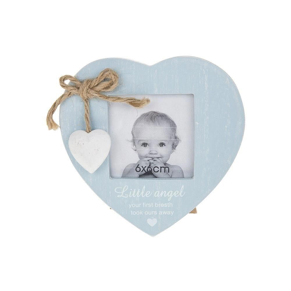Little Angel - Rama foto inimioara bleu