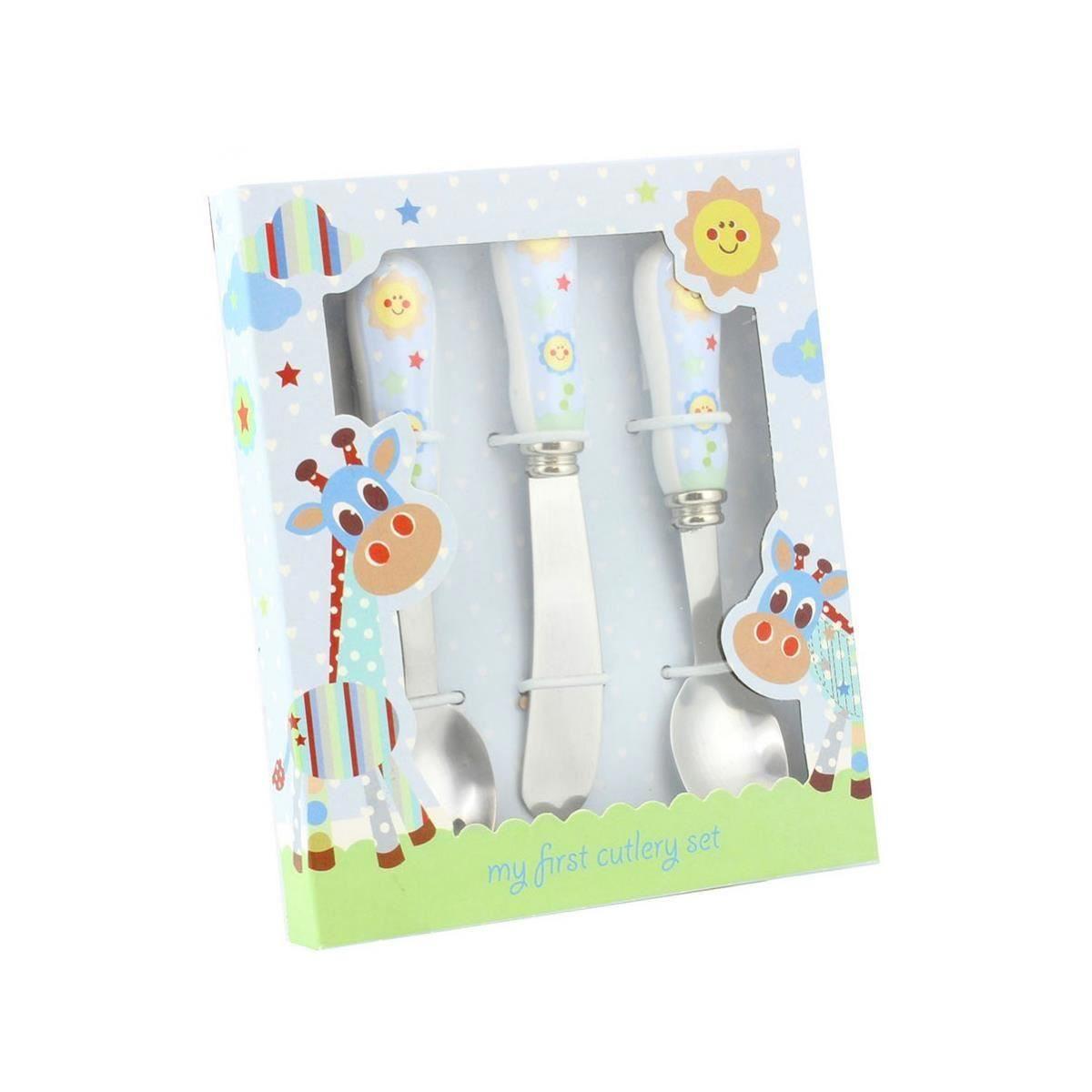 Little Sunshine - Set bleu de tacamuri pentru bebelusi