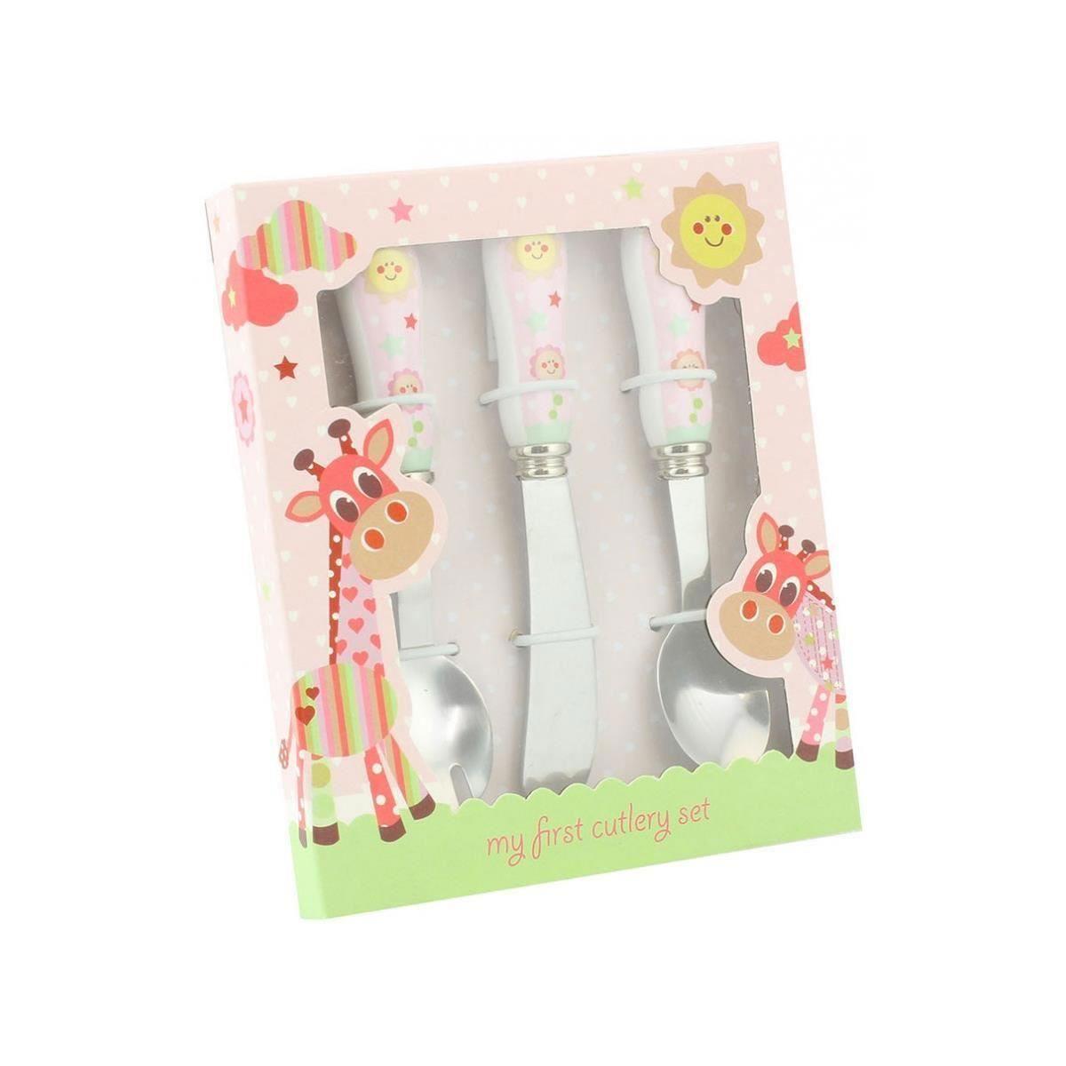 Little Sunshine - Set roz de tacamuri pentru bebelusi