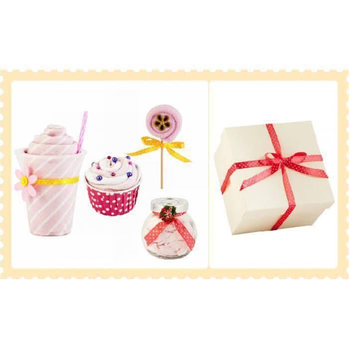 Pachet cadou pentru fetite - 4 piese in forma de dulciuri