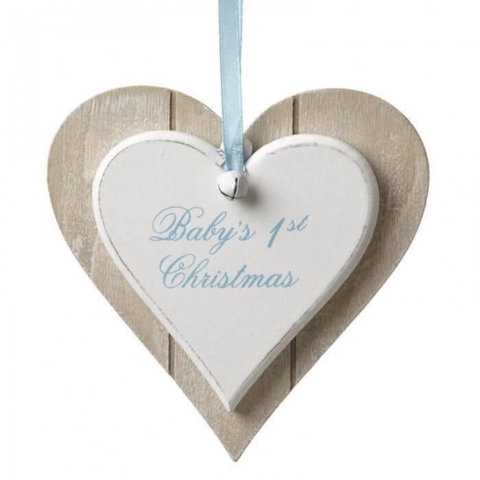 Placuta ornament Baby's 1st Christmas pentru baietel