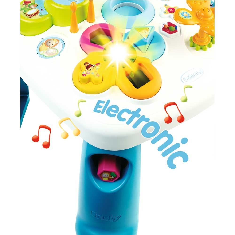 Masa educativa Smoby Cotoons cu efecte sonore si luminoase - albastra