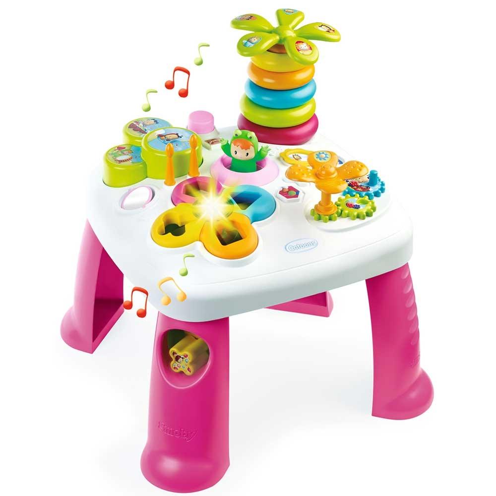 Masa educativa Smoby Cotoons cu efecte sonore si luminoase - roz