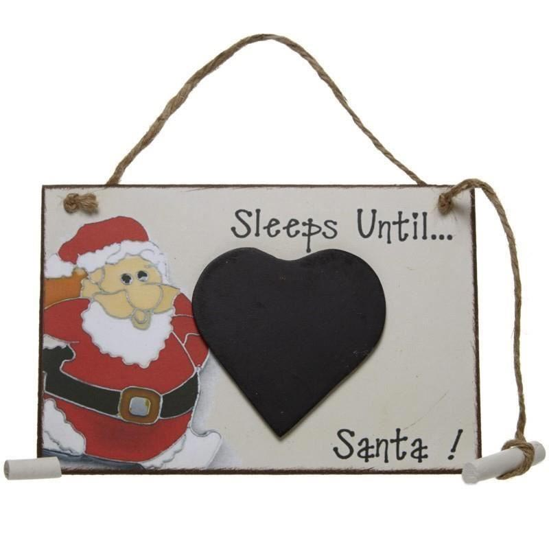 Tablita cu creta Sleeps until Santa
