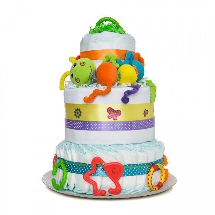 Tort din scutece Pampers - Bucuria culorilor
