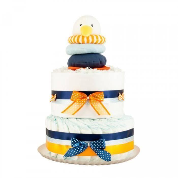 Tort din scutece Pampers - Pinguin