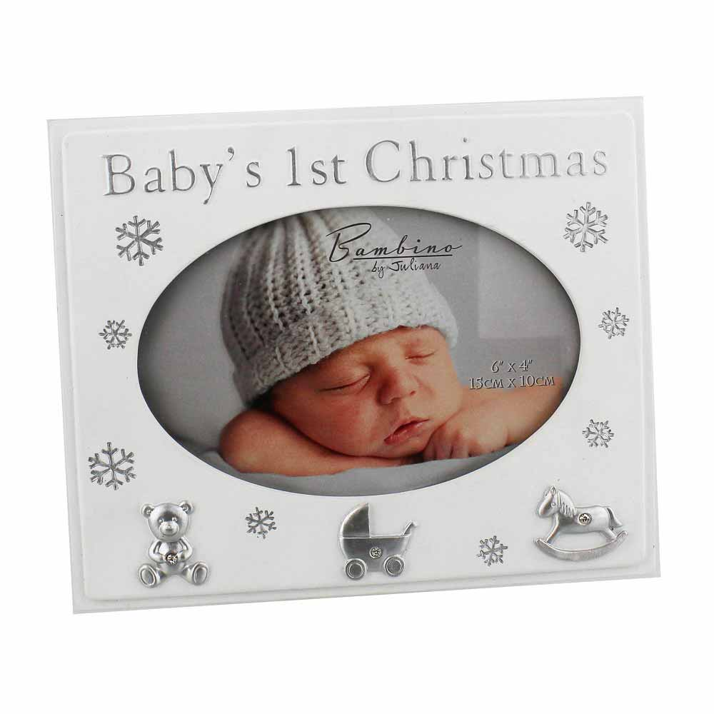 Bambino by Juliana - Rama foto cu poza ovala Baby's First Christmas