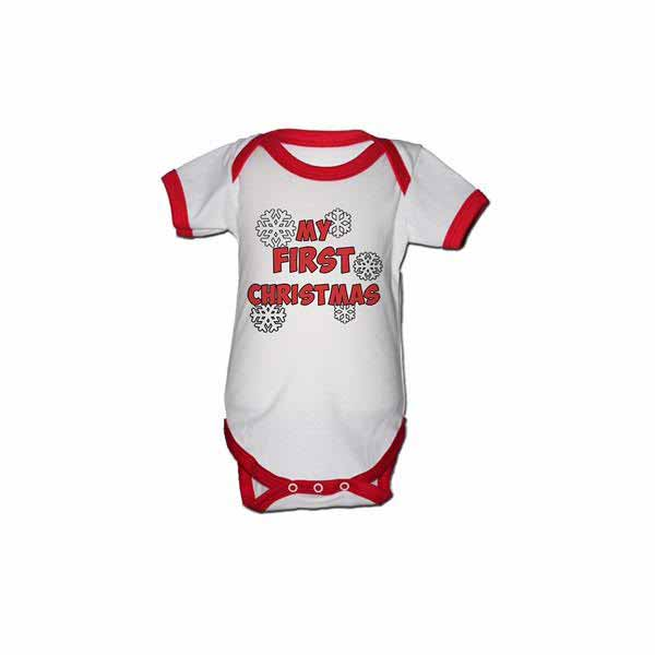 Body My First Christmas 0-3 luni - model fulgi de nea