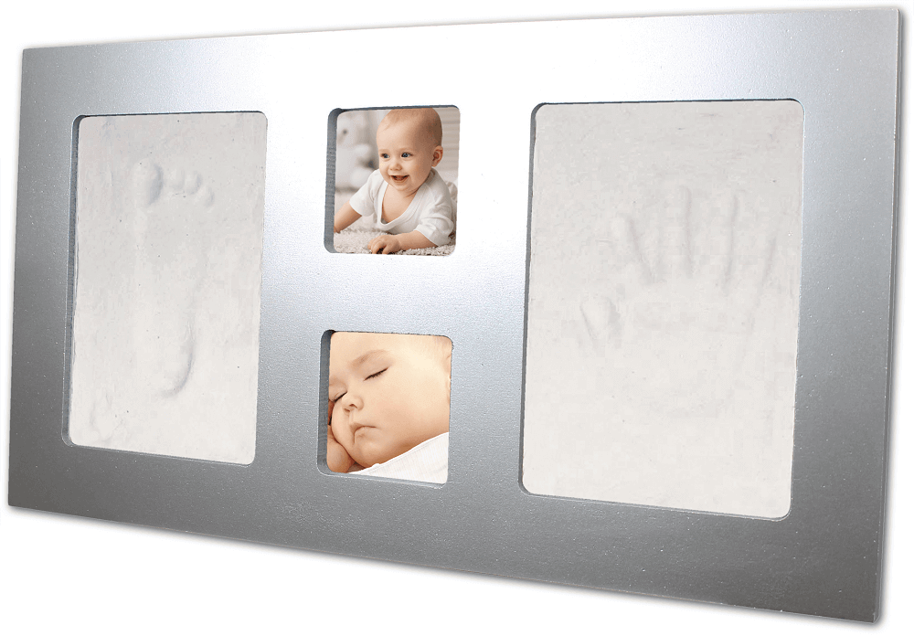 Happy Hands - Kit rama foto simpla cu amprenta mulaj manuta si piciorus