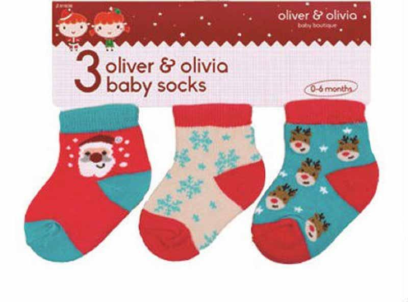 Oliver and Olivia - Set sosetute bebe Mos Craciun si renul Rudolph