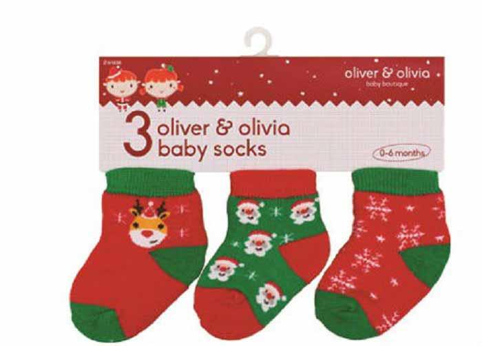 Oliver and Olivia - Set sosetute bebe Rudolph and Santa