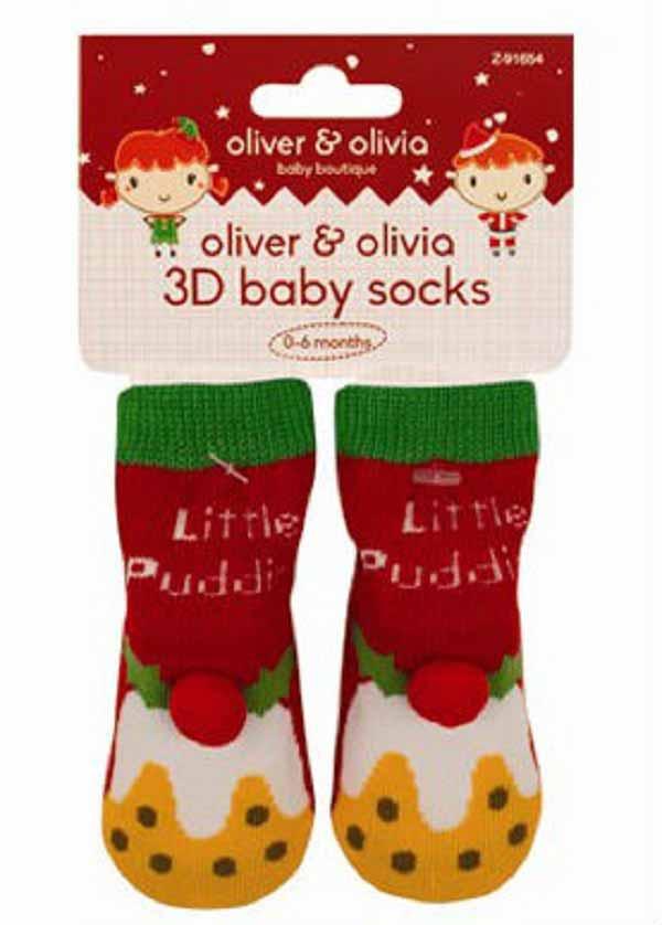 Oliver and Olivia - Sosetute bebe cu model Christmas Pudding