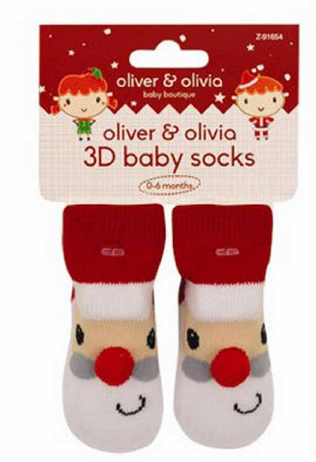 Oliver and Olivia - Sosetute bebe cu model Mos Craciun