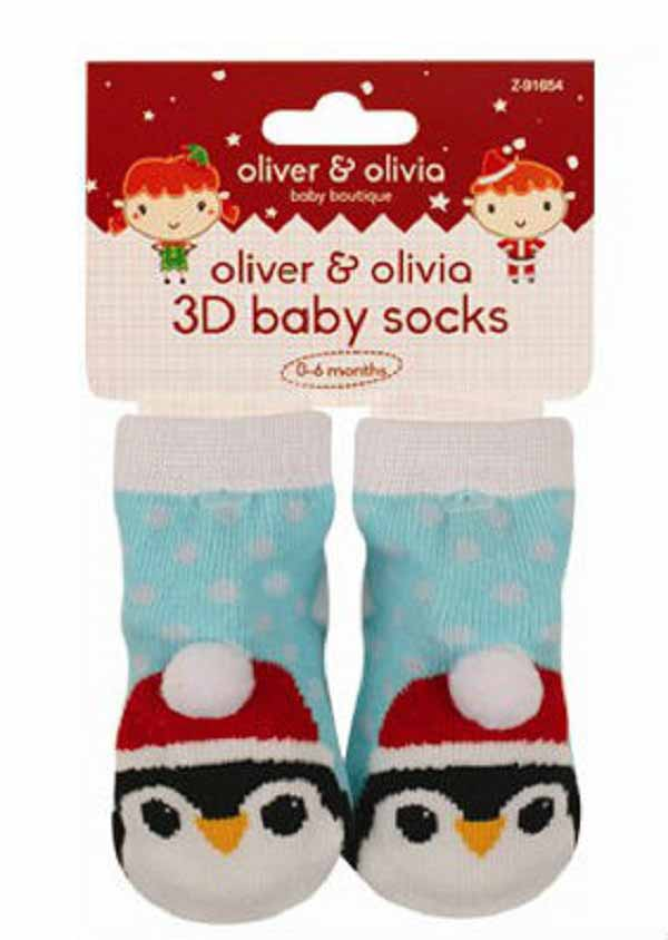 Oliver and Olivia - Sosetute bebe cu model pinguin