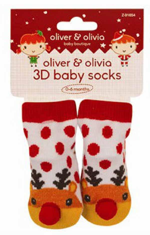 Oliver and Olivia - Sosetute bebe cu model renul Rudolph