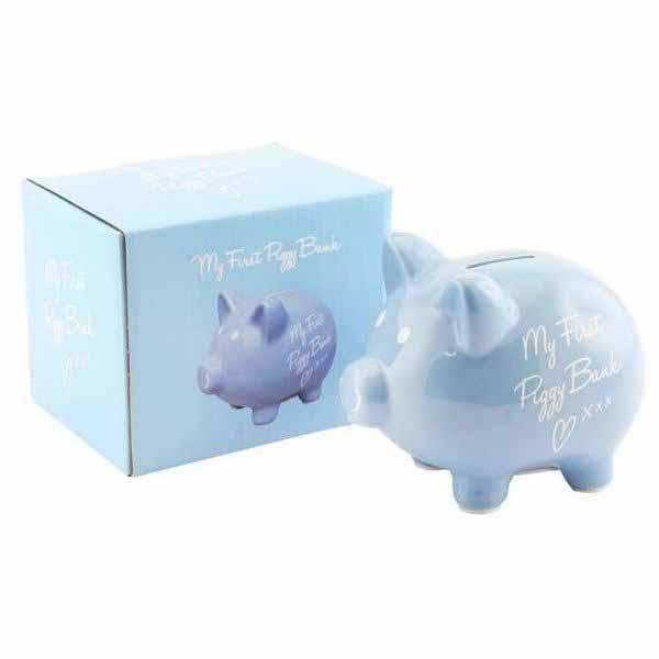 Prima mea pusculita din ceramica Piggy Bank Blue