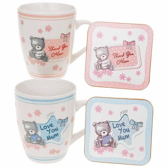 Set cadou pentru mamici Love you Mum/Thank you Mum